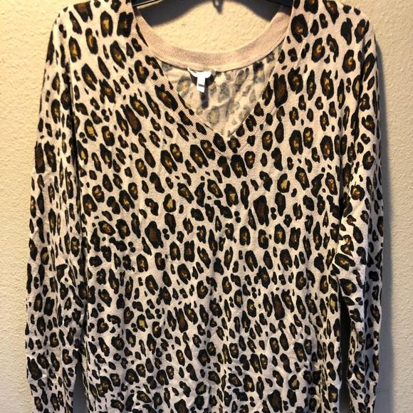 04595ff8e69e Joie Sweaters | Leopard Print V Neck Sweater | Poshmark